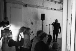 Begär, performance band med Gerd Aurell, Daniel Westman och Per Nilsson